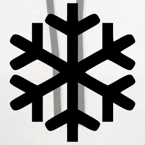White Snowflake - Snow - Winter - Winter Sports Men - Contrast Hoodie