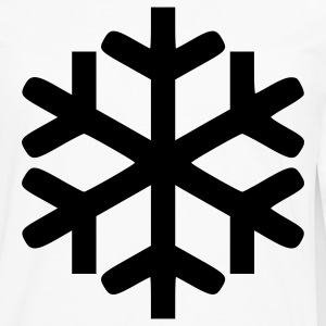 White Snowflake - Snow - Winter - Winter Sports Men - Men's Premium Long Sleeve T-Shirt