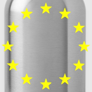 Navy EU - European Union - Europe - Flag - Stars Men - Water Bottle