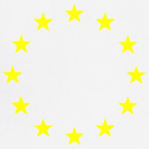 White EU - European Union - Europe - Flag - Stars Accessories - Adjustable Apron