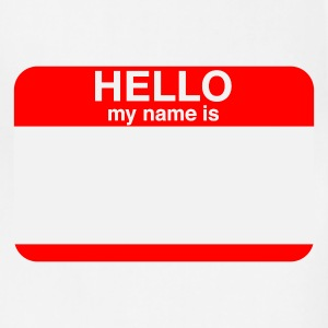 HELLO MY NAME IS _____   T-Shirts - Adjustable Apron