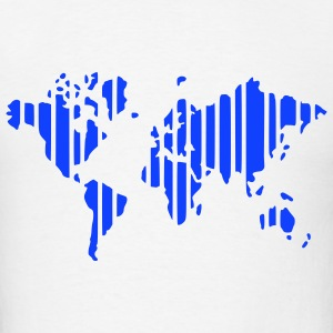 White earth world map Women - Men's T-Shirt