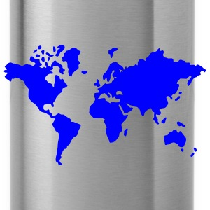 Black earth world map Men - Water Bottle