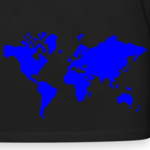 Black earth world map Men - Men's Premium Long Sleeve T-Shirt