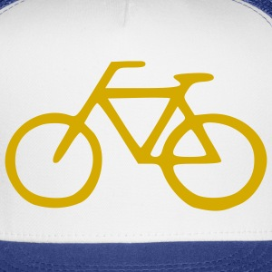 White Cruiser Bike - Bicycle - Cycling – Sports Men - Trucker Cap