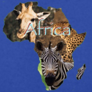 AFRICA WEAR - Men's T-Shirt by American Apparel