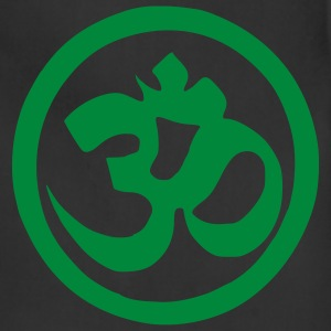Black Om Symbol - Buddhism - Yoga Men - Adjustable Apron