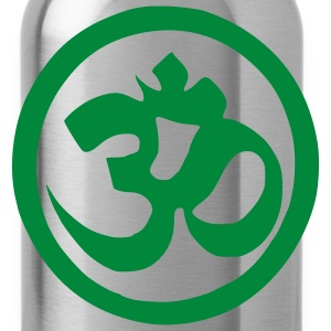 Black Om Symbol - Buddhism - Yoga Men - Water Bottle