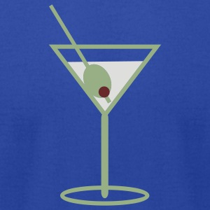 martini time tee - Men's T-Shirt by American Apparel