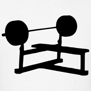 White Weight Bench - Fitness - Gym - Power Men - Men's T-Shirt