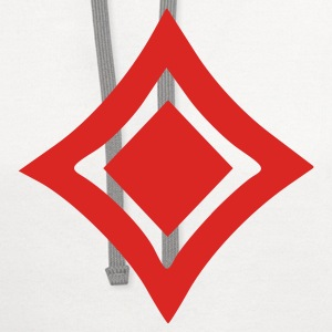 White Diamonds - Poker - Cards - Game Men - Contrast Hoodie