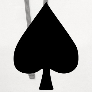 White Spade - Poker - Cards – Game Men - Contrast Hoodie