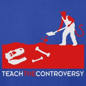 Devil Bones (Teach the Controversy) Hoodies - Men's T-Shirt by American Apparel