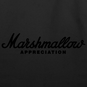 Black Marshmallow Appreciation T-Shirts - Eco-Friendly Cotton Tote