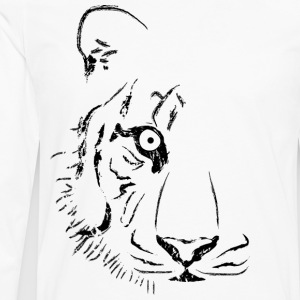 White Tiger (Alternate) Women - Men's Premium Long Sleeve T-Shirt