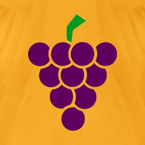 Creme Grape - Bunch of grapes - Wine Accessories - Men's T-Shirt by American Apparel