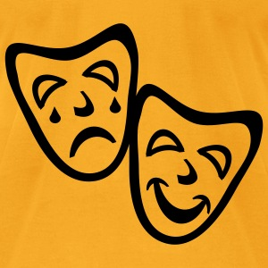 Creme Comedy And Tragedy Masks Accessories - Men's T-Shirt by American Apparel