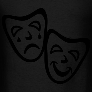 Black Comedy And Tragedy Masks Accessories - Men's T-Shirt