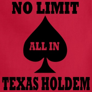 Red Poker - Texas Holdem - All in Men - Adjustable Apron