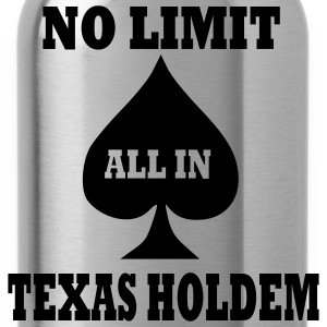Red Poker - Texas Holdem - All in Men - Water Bottle