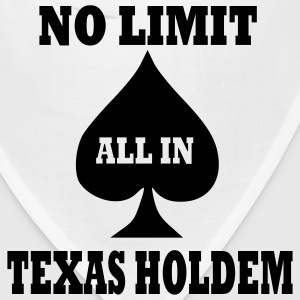 White Poker - Texas Holdem - All in Men - Bandana