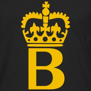 Black Crown - B – Name Men - Men's Premium Long Sleeve T-Shirt