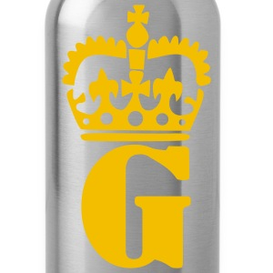 Black Crown - G – Name Men - Water Bottle
