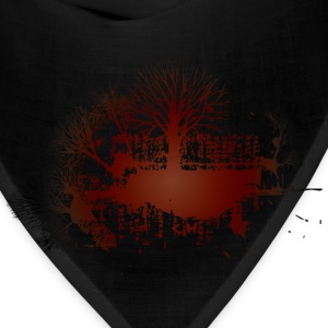 Gray trees red vintage design Women - Bandana