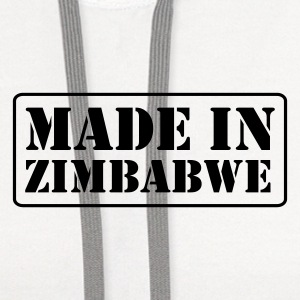 White made_in_zimbabwe2__t_11 T-Shirts (Short sleeve) - Contrast Hoodie