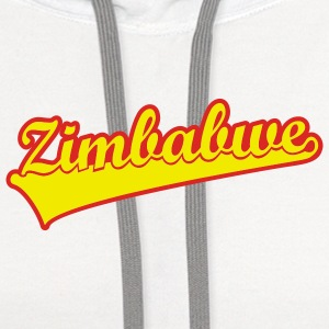 White zim_scroll_2col_us_t Women - Contrast Hoodie