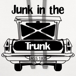 White Junk in the Trunk T-shirt Design Men - Contrast Hoodie