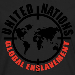 Black/white UN global enslavement Men - Men's Premium Long Sleeve T-Shirt