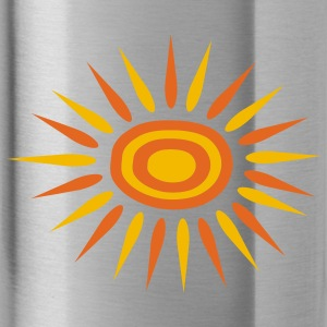 Navy Big Sun With Alternate-Color Rays and Rings Cap - Water Bottle