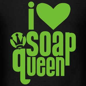 Black I heart Soap Queen Bags  - Men's T-Shirt