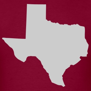Burgundy State of Texas solid Men - Men's T-Shirt