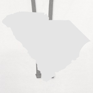 White State of South Carolina solid Men - Contrast Hoodie
