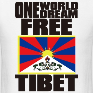 ONE WORLD ONE DREAM FREE TIBET - Men's T-Shirt