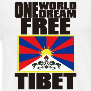 ONE WORLD ONE DREAM FREE TIBET - Men's Premium T-Shirt