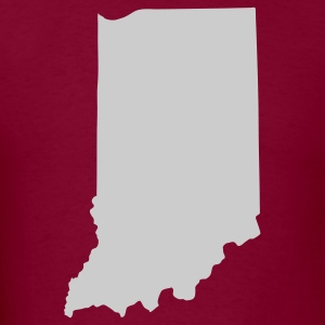 Burgundy State of Indiana solid Men - Men's T-Shirt