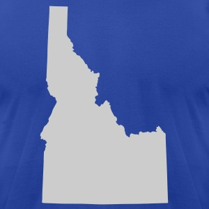 Royal blue State of Idaho solid Men - Men's T-Shirt by American Apparel