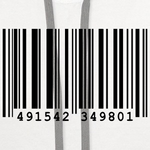 bar code T-Shirts - Contrast Hoodie