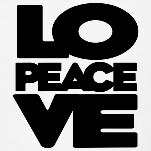 Love Peace Love Badge - Men's T-Shirt