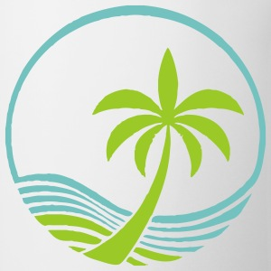 Ocean and Palm Tree - Coffee/Tea Mug