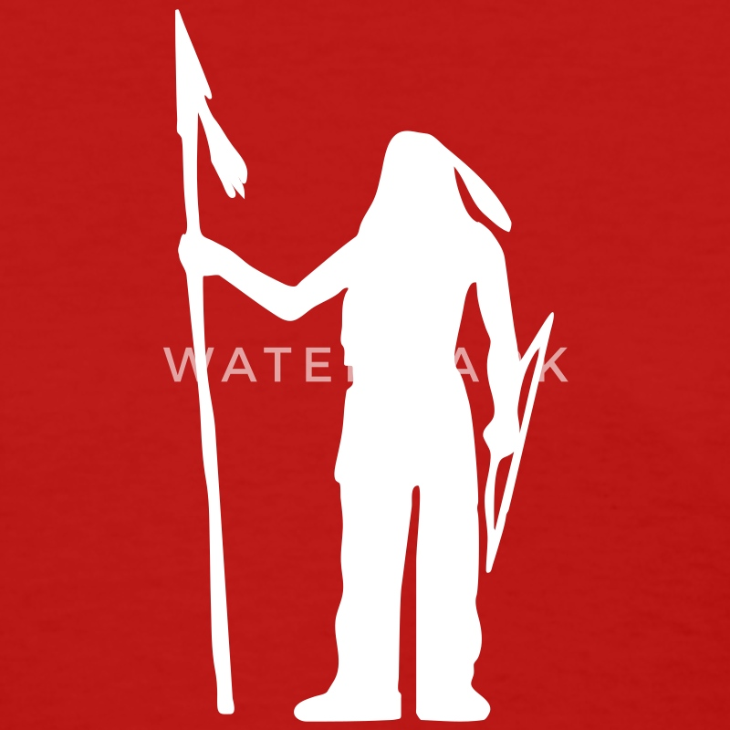 Red Native American Indian Silhouette Women - Women's T-Shirt
