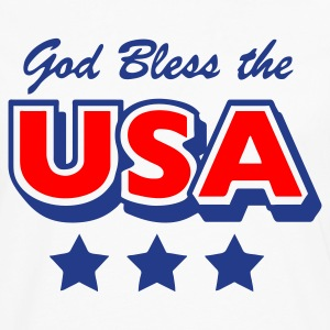 White God Bless the USA Stars Women - Men's Premium Long Sleeve T-Shirt