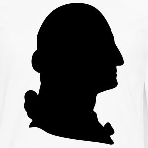 White George Washington silhouette Men - Men's Premium Long Sleeve T-Shirt