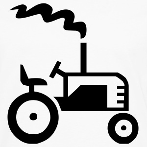 White Tractor Men - Men's Premium Long Sleeve T-Shirt
