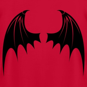 Red Bat Wings Women - Men's T-Shirt by American Apparel