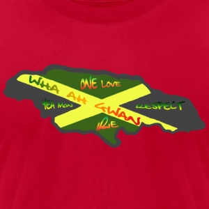 Red speak jamaican Men - Men's T-Shirt by American Apparel