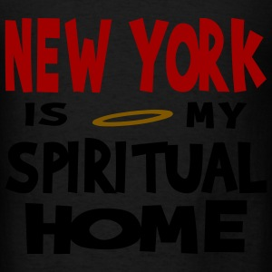Black New York Is My Spiritual Home Accessories - Men's T-Shirt